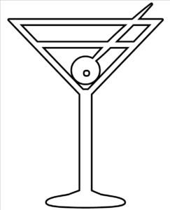 Martini Glass Outline Clip Art