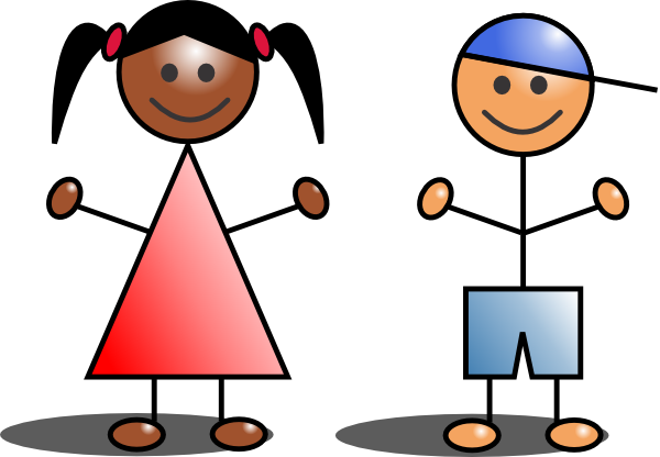Stick kids clipart