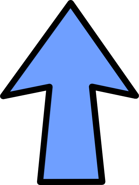 free clipart arrow pointing up - photo #38