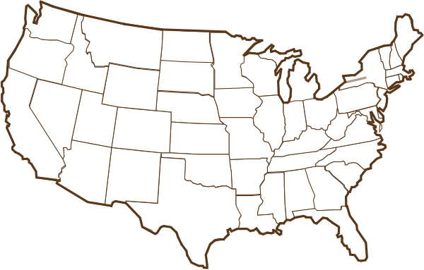 Brown Us Map Clip Art At Clkercom Vector Clip Art Online - Us brown map with states