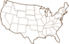 Brown Us Map Clip Art
