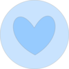Heart In Circle Blue Clip Art