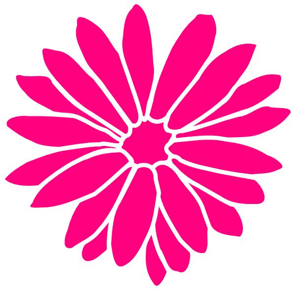 pink dahlia clip art at clker com vector clip art online  royalty free   public domain gerber daisy clip art black and white gerber daisy clip art free