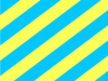 Yellow & Blue Stripes Clip Art