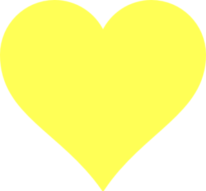 Canary Heart Clip Art