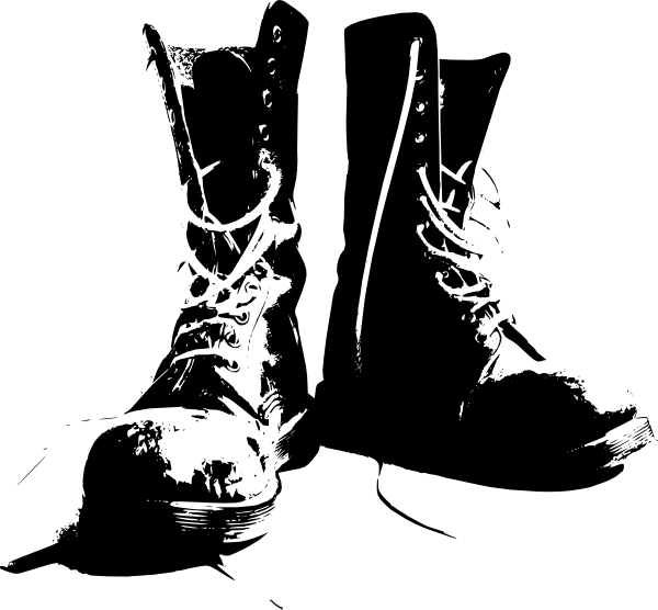 clipart of military boots - photo #1