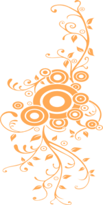 Orange Swirls Clip Art