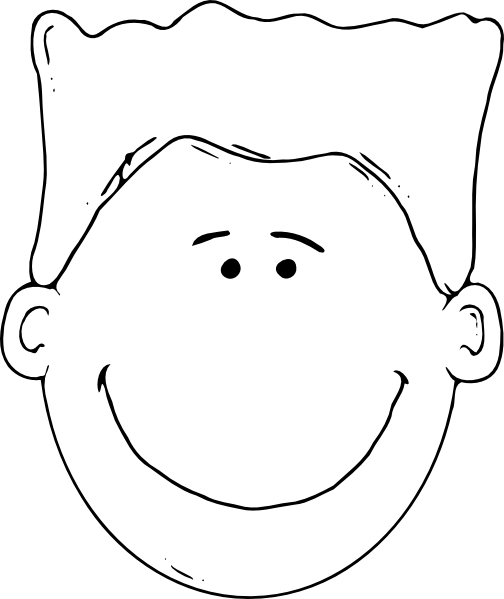 Boy Face Outline Clip Art at Clker.com - vector clip art ...