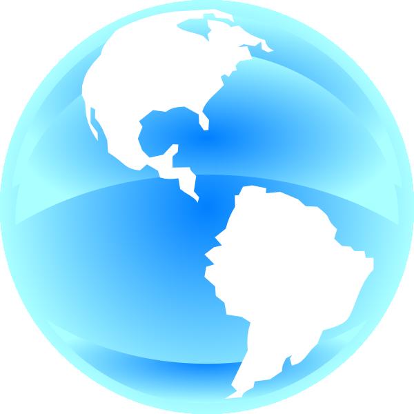 Blue World Clip Art at Clker.com - vector clip art online ...