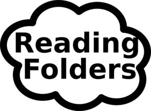 Reading Folder Sign Clip Art