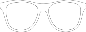 Black And White Sunglass Frames Clip Art
