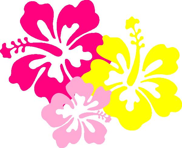 Hibiscus Pink Yellow Clip Art at Clker.com - vector clip ...