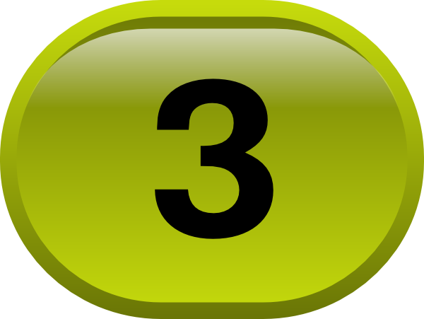 Button For Numbers 3 Clip Art At Clker.com