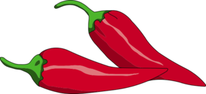 Peperoncino Reversed Clip Art