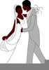 African American Bride And Groom Clipart Image