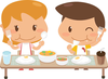 Table Of Food Clipart Image