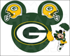 Green Bay Cheerleader Clipart Image