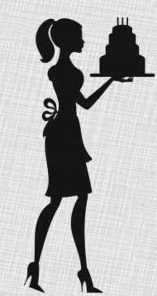 Silhouette Lady Cake Birthday Invitations | Free Images at ...