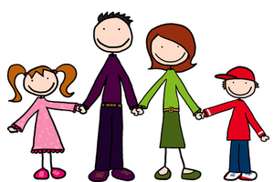 Cartoon Family Holding Hands Image