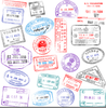 Country Passport Stamps Clipart Image