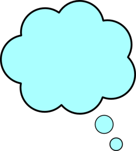 Blue Thought Bubble Clip Art