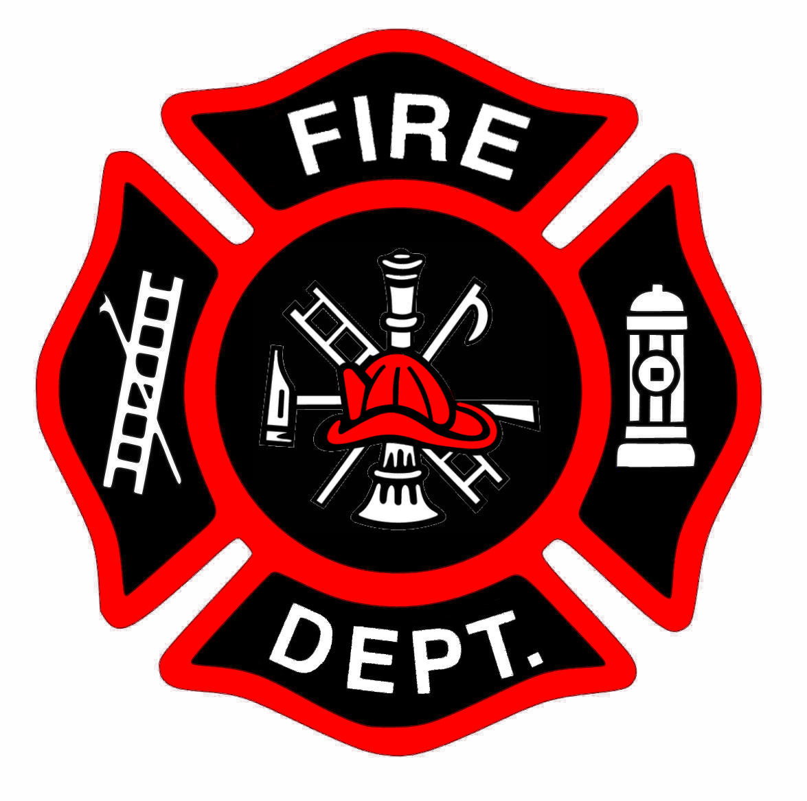 Fireman bage new red hat cut image