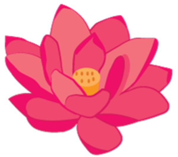 free blue lotus flower clip art - photo #42
