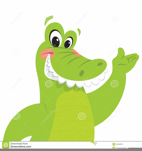 Happy Alligator Clipart Image