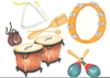 Percussion Instruments Clipart Image