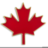 Canadian Flag Maple Leaf Clipart Image