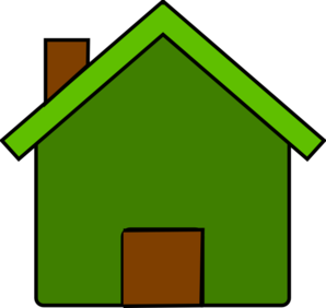 Green And Brown House Clip Art