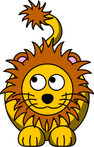 Lion Looking Left-up Clip Art