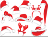 Christmas Stocking Hat Clipart Image