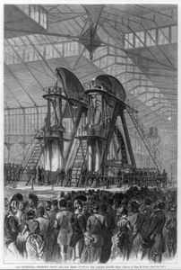 [president Grant And Don Pedro Starting The Corliss Engine At The Centennial, Philadelphia, 1876] Image