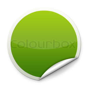 Green Round Sticker Image