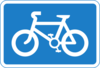 Cycle Route Sign Clip Art