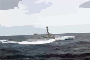 The Guided Missile Destroyer Uss Cole (ddg 67) Encounters Heavy Seas While Transiting Across The Atlantic. Clip Art