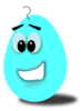 Light Blue Comic Egg Clip Art