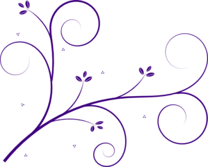 Flourish Purple Clip Art