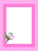 Pink Rose Border Clipart Image