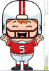Free Cartoon Football Player Clipart Image