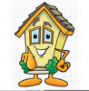 House Clipart Black Image