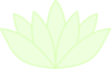 Green Lotus Translucent Clip Art