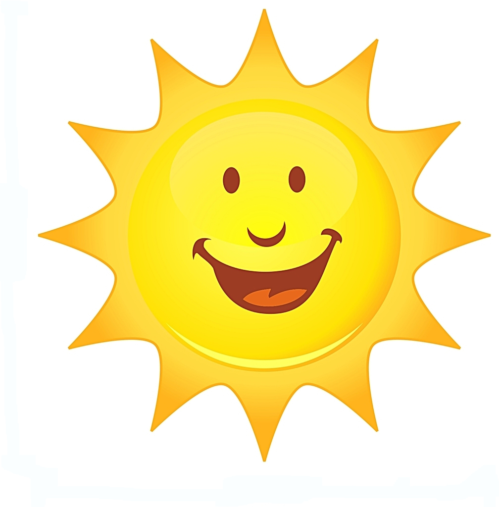 smiling sun free images at clker com vector clip art online rh clker com smiling sun clipart png smiling sun with sunglasses clipart