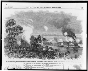The War In Louisiana - Destruction Of The U.s. Transport John Warner By Confederate Batteries On Red River, May 4  / From A Sketch By Our Special Artist, C.e.h. Bonwill. Image