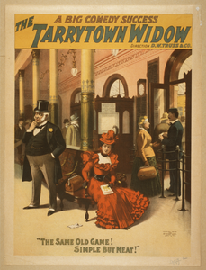 The Tarrytown Widow A Big Comedy Success.  Image