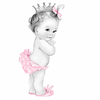 Adorable Pink Princess Baby Girl Shower Photosculpture Rbe A Bc E A D Dab Dba X Saw Byvr Image