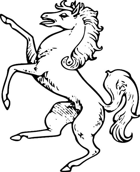 Kleurplaat Paard Springen White Horse Clip Art At Clker Com Vector Clip Art Online