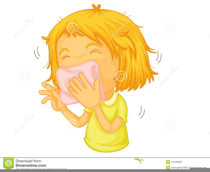 Woman Sneezing Clipart Image