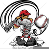 Baseball Player Free Clipart Image